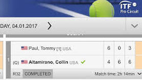 Collin Altamirano Beats Tommy Paul in Three Sets in $25,000 Futures in Los Angeles