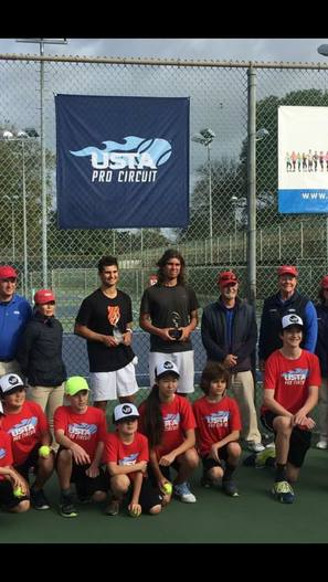 Collin Altamirano Runner Up in the $25,000 Futures in Long Beach